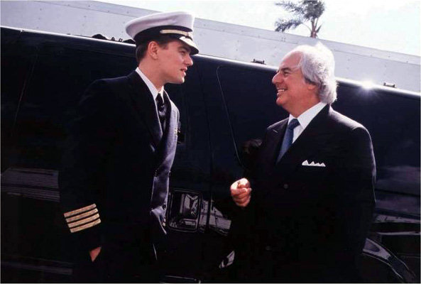 Leonardo diCaprio plays Frank Abagnale Jr. in the movie Catch Me If You Can.